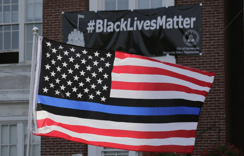 After rainbow flag, Costa Mesa councilman suggests flying Blue Lives Matter flag at City Hall