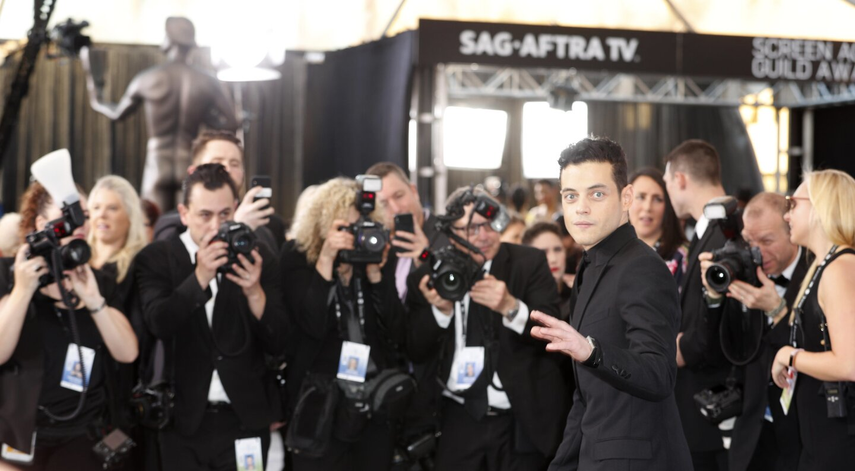 Rami Malek at the 25th Screen Actors Guild Awards on Sunday.