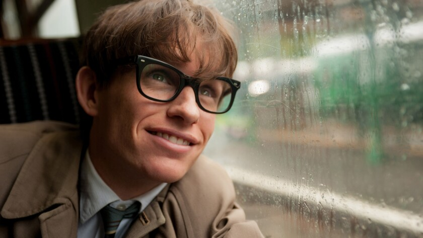 "Eddie Redmayne portrays Stephen Hawking in 2014's ""The Theory of Everything"" on HBO."