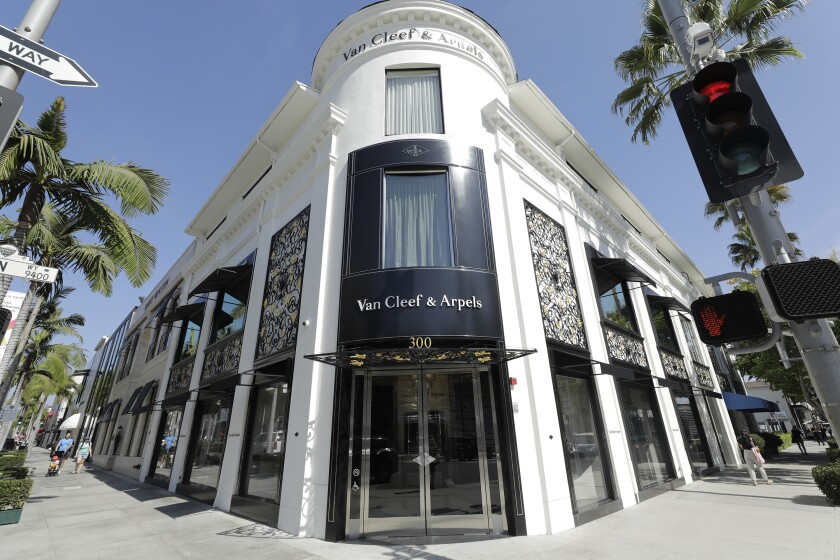 The renovated Van Cleef & Arpels store on Rodeo Drive in Beverly Hills.