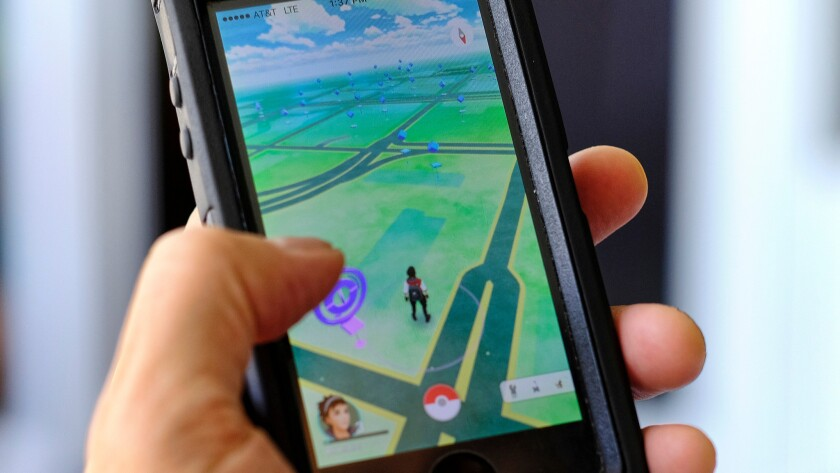 """Pokemon Go"" displayed on a cellphone."