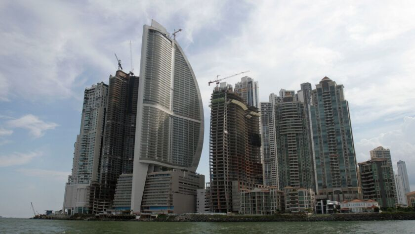 FILE - This July 4, 2011, file photo, shows the Trump International Hotel Panama , third building fr