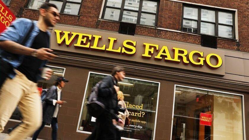 A Wells Fargo bank branch in New York City in 2017.