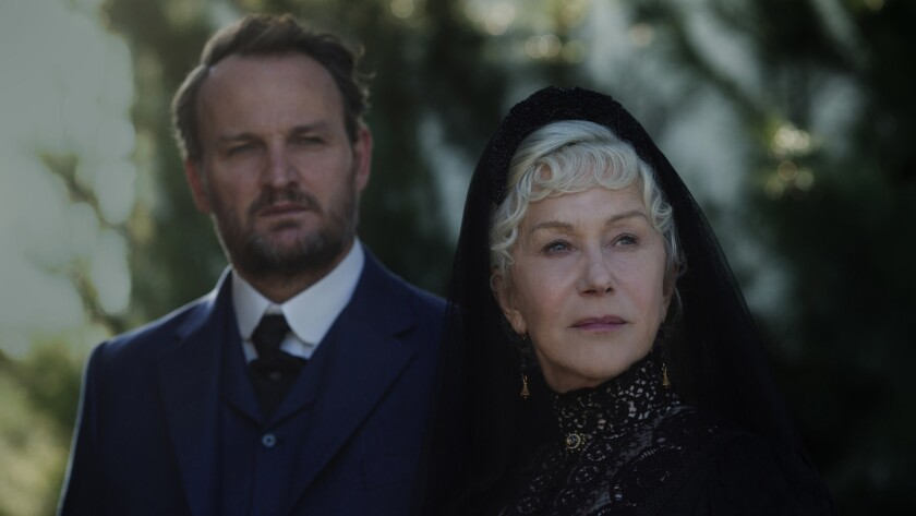 "(L-R) - Jason Clarke and Helen Mirren in a scene from the movie ""Winchester."" Credit: Ben King / CB"