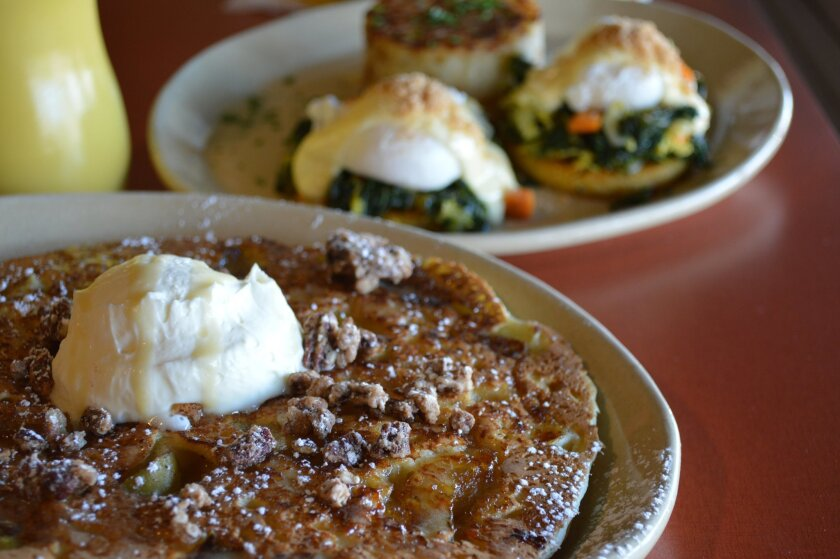 The Snooze Candy Apple Pancake and the Winter Harvest Benny.