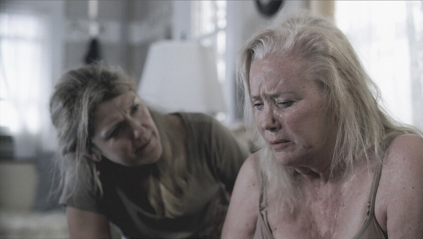 """Victoria Clark, left, and Sally Kirkland in a scene from """"Archaeology of a Woman."""""""