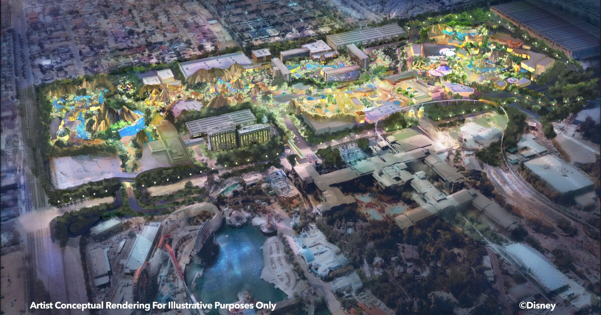 New plan at Disneyland calls for squeezing in more rides, restaurants and shops
