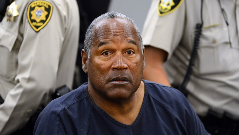 O.J. Simpson at his evidentiary hearing in Clark County District Court in Las Vegas on May 14, 2013.