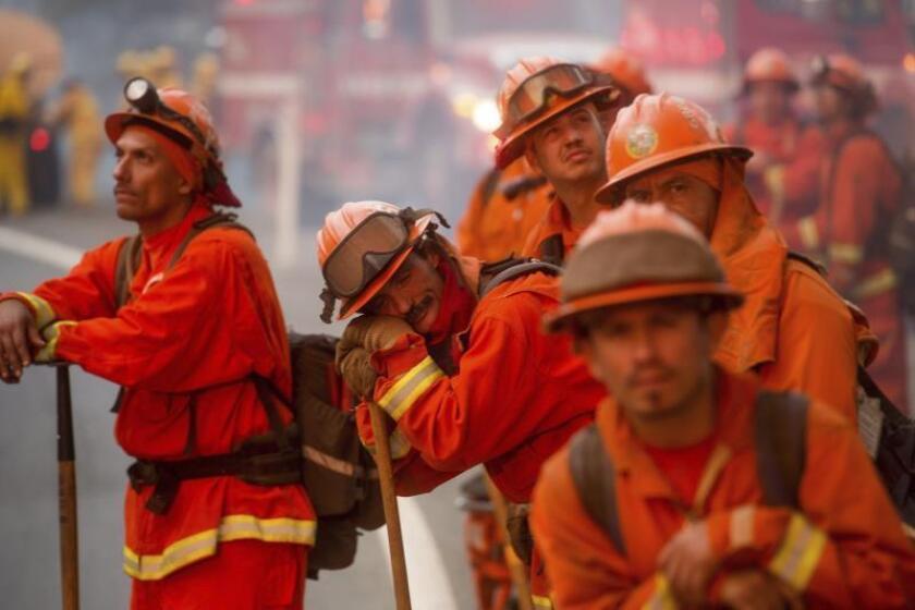 California prevé controlar incendio forestal Tenaja para el martes