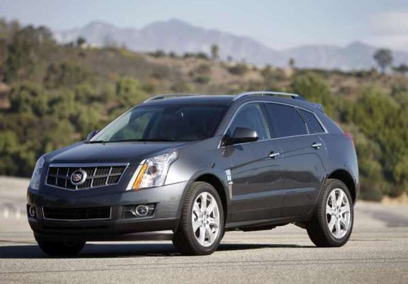 GM recalls some 2013 Cadillac SRX crossovers