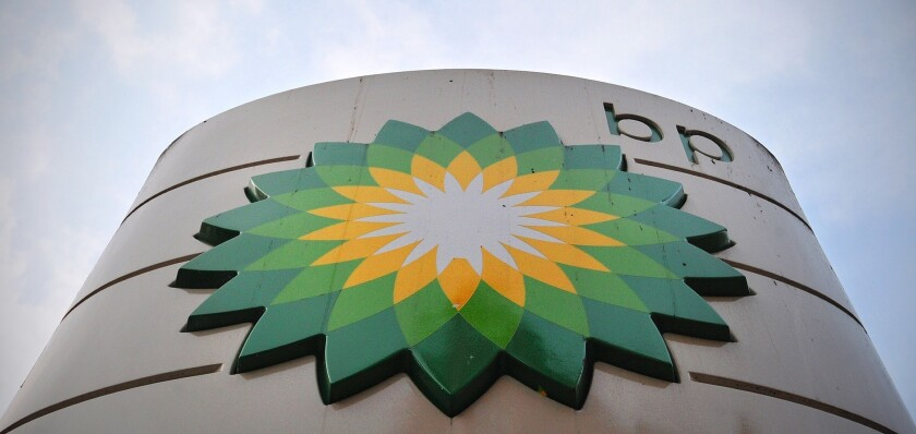 BP station in London