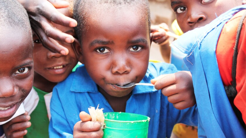 The humanitarian organization Mary's Meals provides a school meal to about 814,000 children in Malawi each day. For many children it's their only meal of the day, the group's officials say.