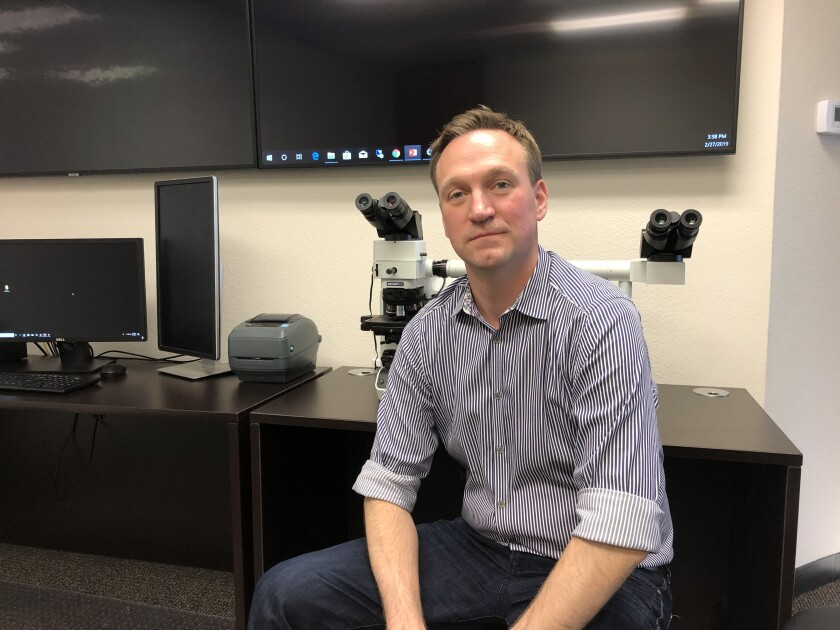 Evan Matshes M.D., owner of NAAG Pathology Labs of Sorrento Valley, said he will not extend his agreement to provide medical examiner's services with Lubbock County, Texas, past September. The announcement follows a criminal investigation and civil lawsuits alleging he improperly harvested pediatric body parts during autopsies.