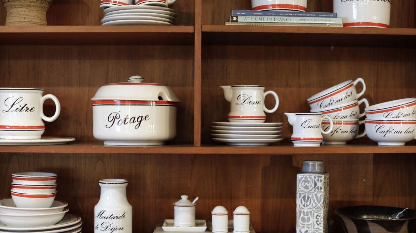 LOS ANGELES, CA -- MAY 06, 2019: French-kitchen wares by the German ceramics company Waechtersbach a
