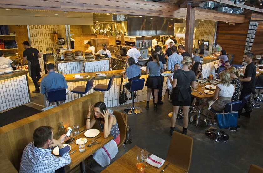 Juniper & Ivy in San Diego's Little Italy area made OpenTable's list of the hottest 100 restaurants in the U.S.
