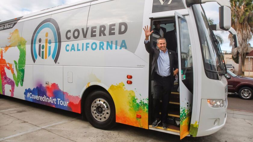 Covered California executive director Peter Lee visits City Heights in San Diego on Nov. 2 during a statewide open enrollment launch tour.