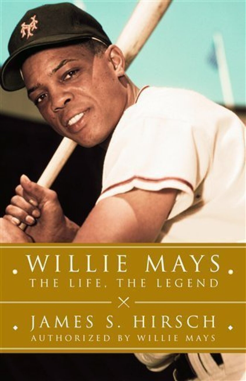 "In this book cover image released by Scribner, ""Willie Mays: The Life, The Legend"" by James S. Hirsch is shown. (AP Photo/Scribner)"