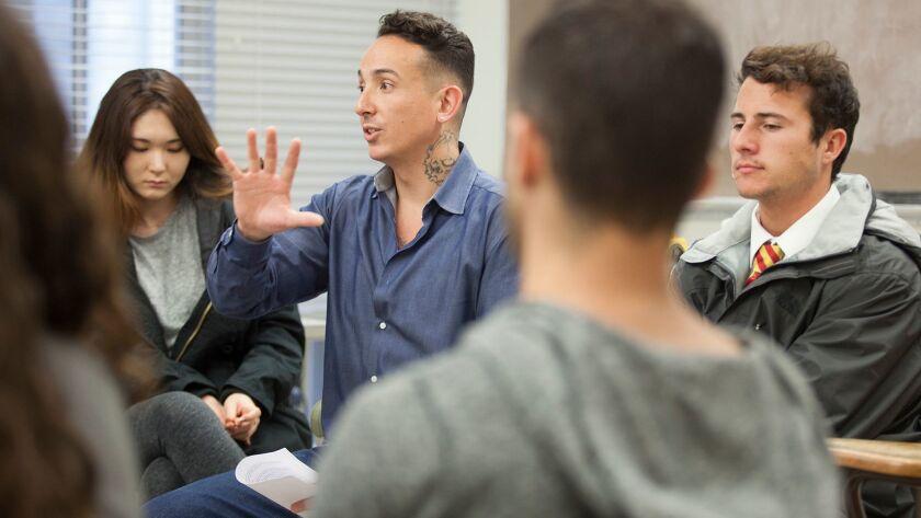 "Matthew Plink leads his ""Cognitive Karate"" class at UC Berkeley."