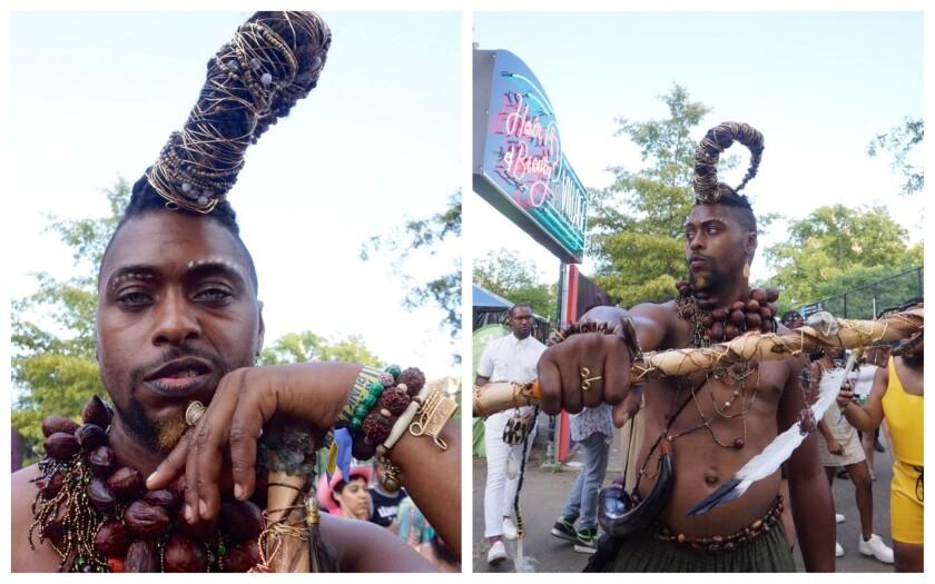 Lamar Beane at Afropunk in Brooklyn, N.Y.
