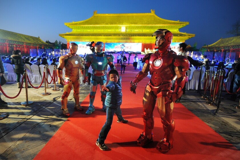 'Iron Man 3' promotional event in Beijing