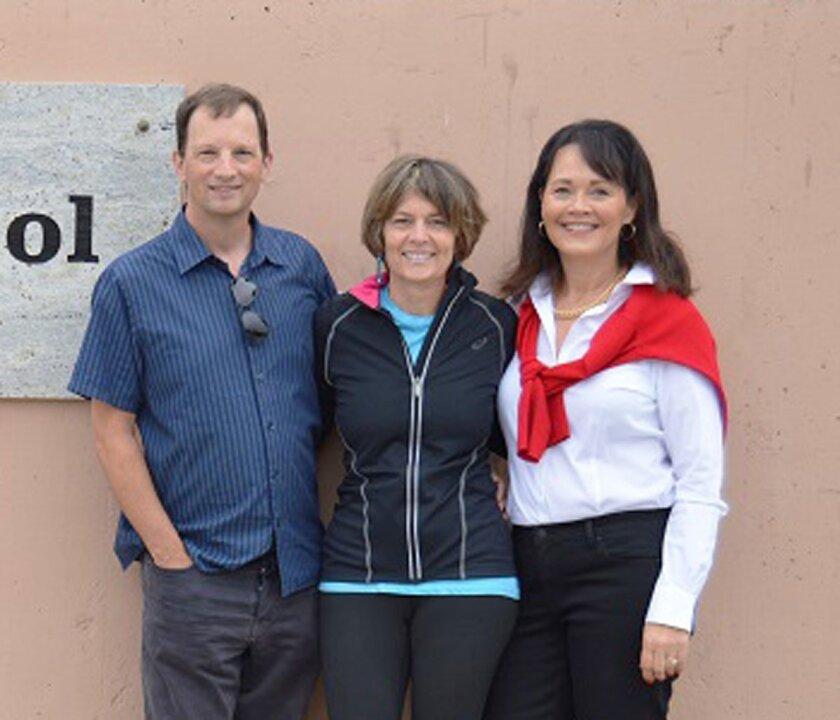 La Jolla High School PTA honorees Cal Mann, Jane Wheeler and Beth Penny