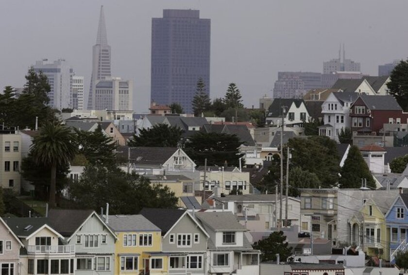 Rows of homes in San Francisco.