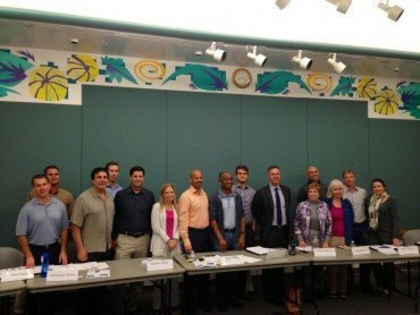 Congressman Scott Peters stopped by the Carmel Valley Community Planning Board's Oct. 24 meeting. Courtesy photo