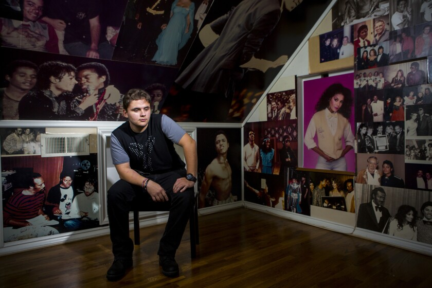 """Michael Joseph """"Prince"""" Jackson inside his father's childhood home in Encino."""