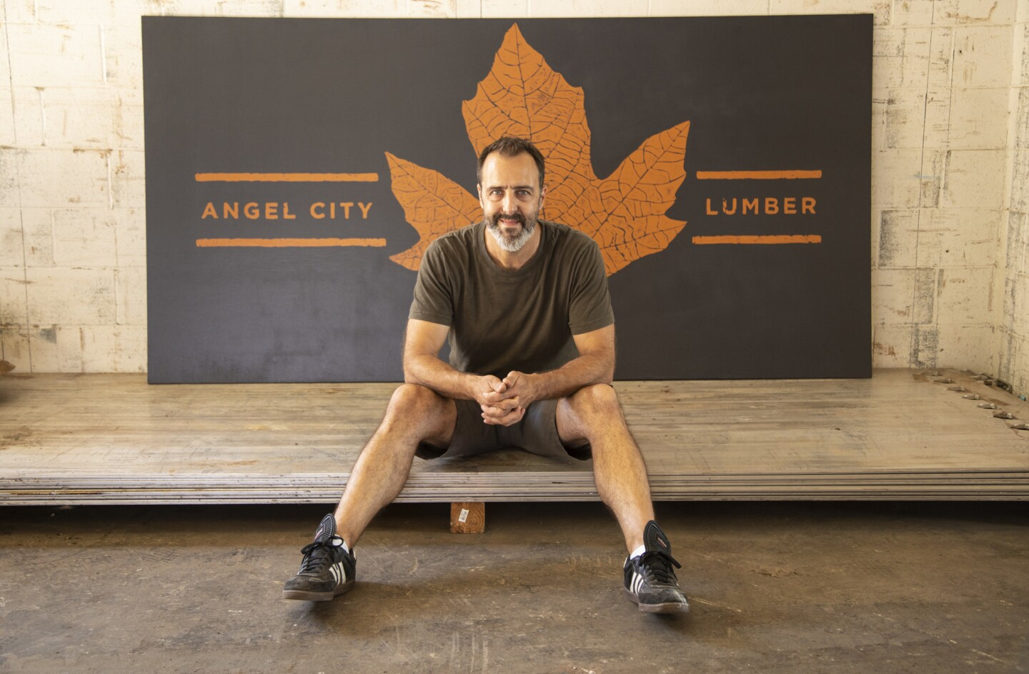 Charles DeRosa is co-owner of Angel City Lumber, which recovers downed trees across L.A. and processes them into lumber. Designers and furniture makers frequent the business.
