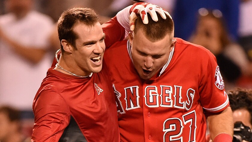 Collin Cowgill, Mike Trout
