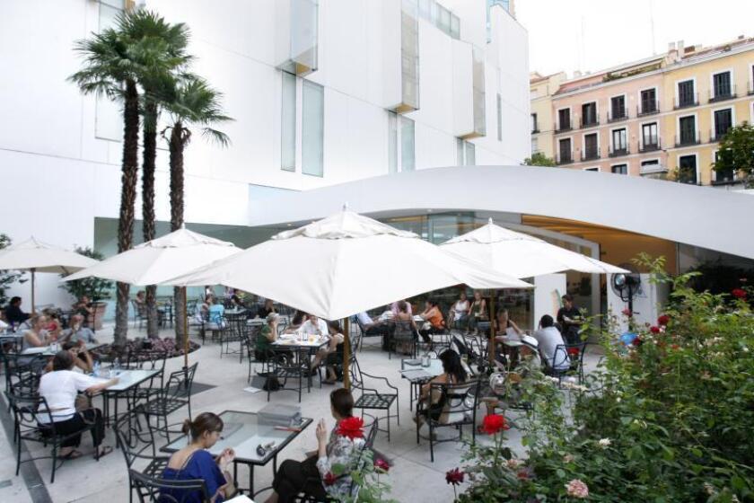 Terraza de la cafeteria del Museo Thyssen de Madrid.EFE/Archivo