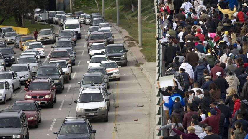 Border protest over higher gas prices.