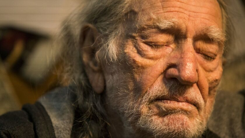 "Willie Nelson, photographed in Hollywood in October, won the Grammy Award for traditional pop vocal album for ""My Way,"" his salute to Frank Sinatra."