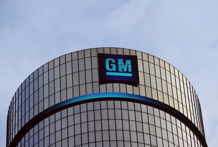 General Motors' headquarters at the Renaissance Center in Detroit.