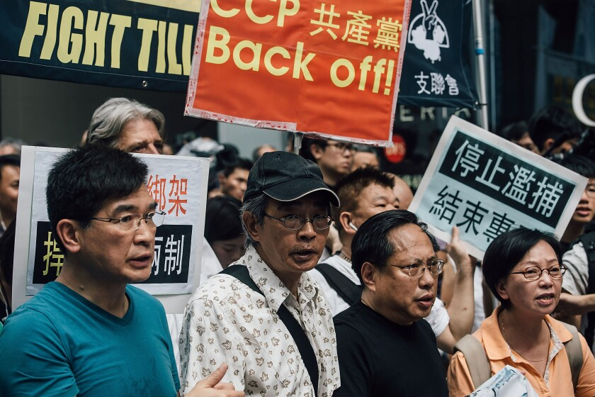 Protests In Hong Kong After Bookseller's Confession
