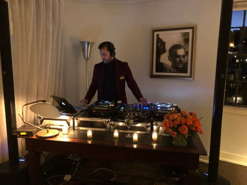 Chateau Marmont music director Arman Nafeei was the DJ.