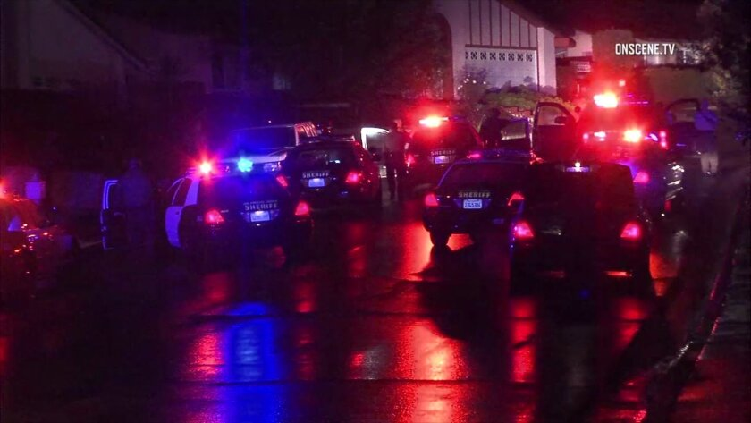 A man allegedly armed with a gun was shot and killed by deputies in Hacienda Heights.