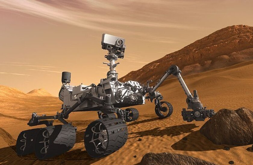 Artist's rendering of the Mars Curiosity rover, which is about the size of an SUV.