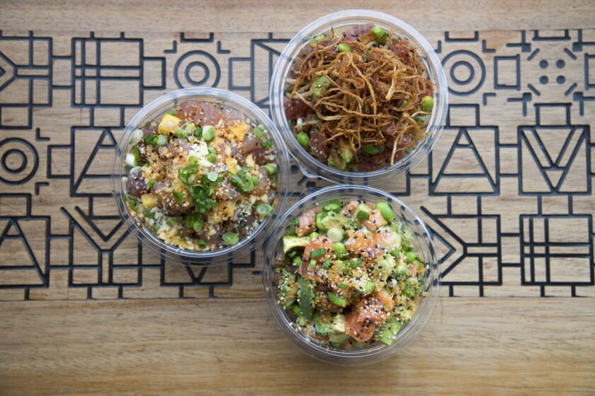 Sweetfin Poke offers a variety of fish and vegetarian bowls.