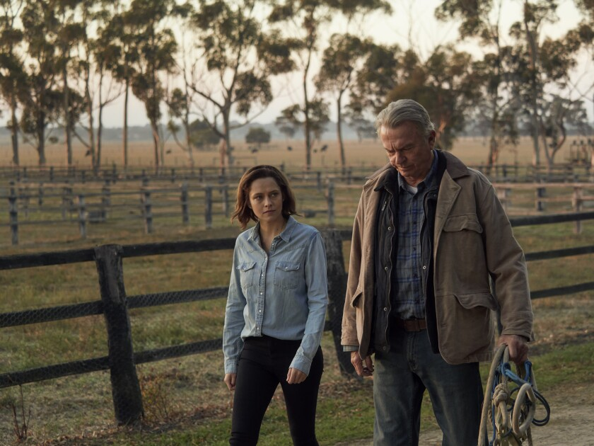 Teresa Palmer and Sam Neill in the movie 'Ride Like a Girl'