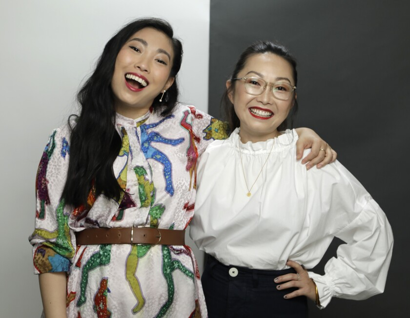 """Awkwafina and """"The Farewell"""" director"""