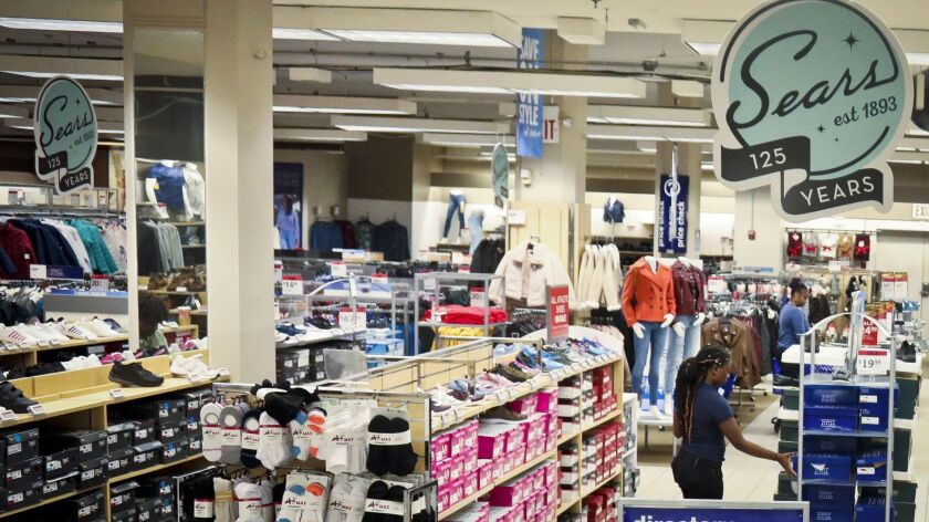 This photo shows a Sears department store, Wednesday, Oct. 10, 2018, in Brooklyn, N.Y. Sears Holding