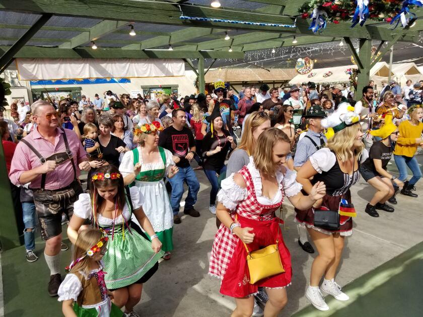 Una escena del Oktoberfest de 2019 en El Cajón.