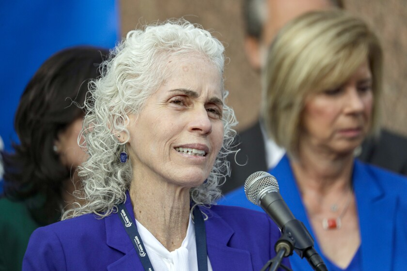L.A. County Public Health Director Barbara Ferrer, pictured in April, announced the death of an incarcerated individual and the death of a pregnant woman Monday.