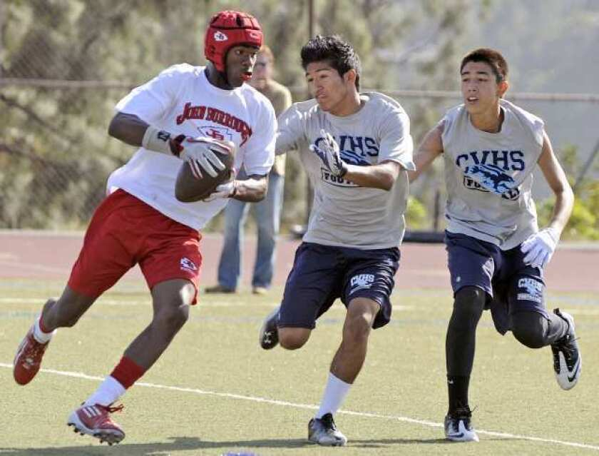 Burroughs football team looks for replacement during spring
