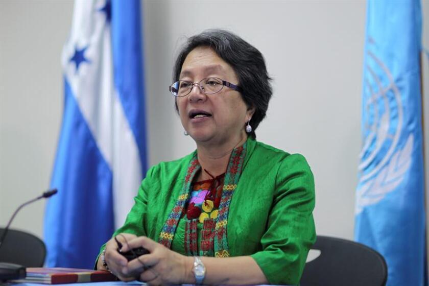 La relatora especial de las Naciones Unidas sobre los derechos de los pueblos indígenas, Victoria Tauli-Corpuz, realizará una visita oficial a México del 8 al 17 de noviembre, con el fin de examinar cuestiones que afectan a las comunidades originarias. EFE/ARCHIVO