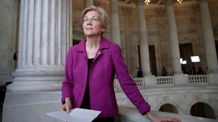 Democratic Sen. Elizabeth Warren of Massachusetts.