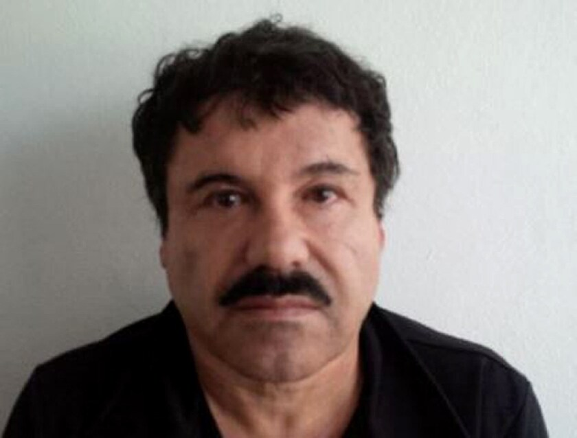 """The mugshot of Mexican drug trafficker Joaquin """"El Chapo"""" Guzman, published on the Attorney General of Mexico's website in 2014."""