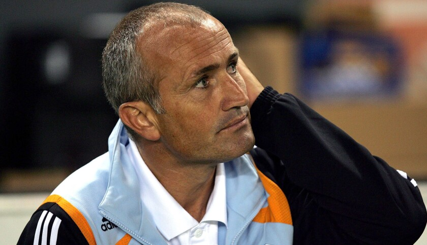 Dominic Kinnear coached the Houston Dynamo to a pair of MLS Cup titles.