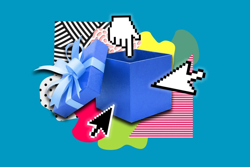 A photo illustration of a gift box.